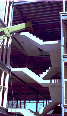 High rise pre-cast concrete steps installed at Sugarloaf USA