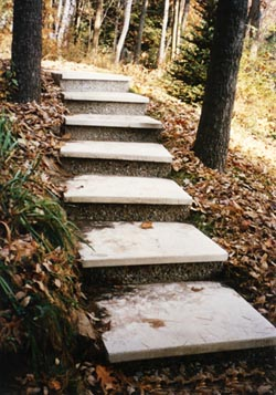 Shawnee pre cast concrete terrace steps sold throughout maine for Terrace stairs