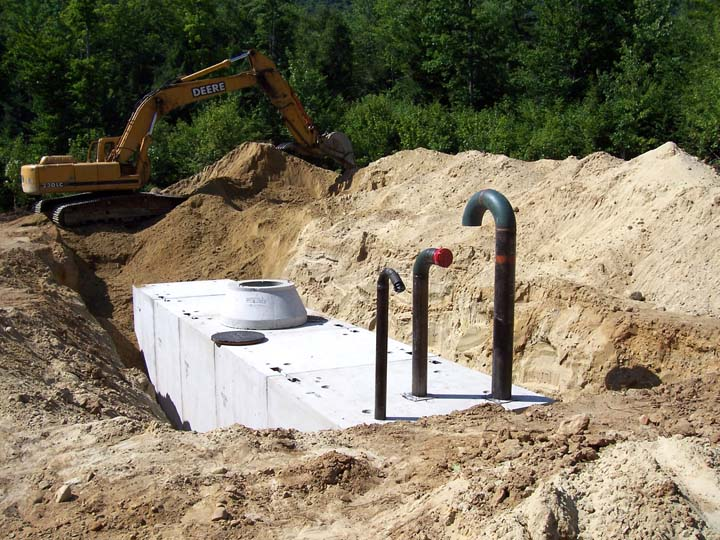 Underground Precast Concrete Fire Cisterns by American Concrete of