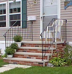 Shawnee Pre Cast Concrete Steps And Railings By American Concrete Of Auburn  U0026 Bangot Maine